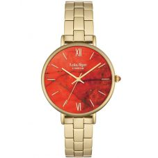Lola Rose Ladies Fire Orange Magnesite Stainless Steel Bracelet Watch LR4000