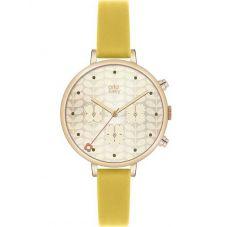 Orla Kiely Ivy Gold Plated Chronograph Strap Watch OK2038