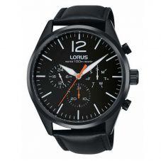 Lorus Mens Black Chronograph Watch RX403AX9