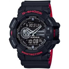 Casio G-Shock Limited Edition Dual Display Red Plastic Strap Watch GA-400HR-1AER