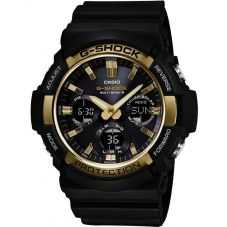 Casio G-Shock Classic Solar Dual Display Gold Plastic Strap Watch GAW-100G-1AER