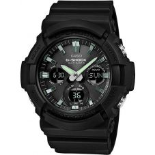 Casio G-Shock Classic Solar Dual Display Black Plastic Strap Watch GAW-100B-1AER
