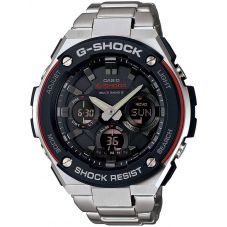 Casio G-Shock G-Steel Solar Dual Display Black Bracelet Watch GST-W100D-1A4ER