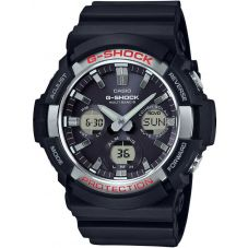 Casio G-Shock Classic Solar Dual Display Black Plastic Strap Watch GAW-100-1AER