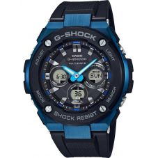 Casio G-Shock G-Steel Solar Dual Display Blue Plastic Strap Watch GST-W300G-1A2ER