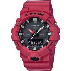 Casio G-Shock Classic Dual Display Red Plastic Strap Watch GA-800-4AER