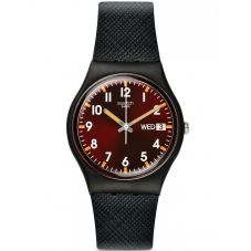 Swatch Unisex Sir Red Strap Watch GB753