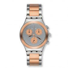 Swatch Grill Chill Rose Gold Plated Bracelet Watch YCS581G