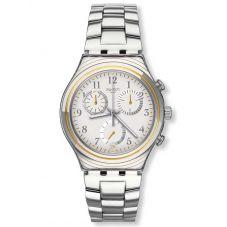 Swatch Mens Silvernow Stainless Steel Bracelet Watch YCS586G