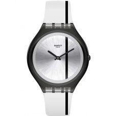 Swatch Skinthrough Transparent Rubber Strap Watch SVUB102