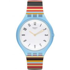 Swatch Skinstripes Multicolor Rubber Strap Watch SVUL100