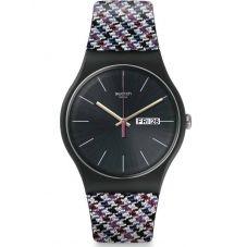 Swatch Warmth Multicolor Rubber Strap Watch SUOB725