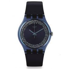 Swatch Blusparkles Rubber Strap Watch SUON134