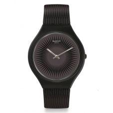 Swatch Skinnella Black Rubber Strap Watch SVOB104