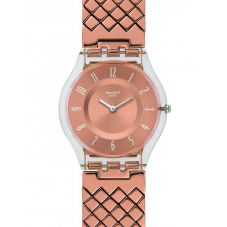 Swatch Pink Cushion Small Bracelet Watch SFE110GB