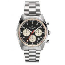 Accurist Mens Signature Chronograph Black Dial Bracelet Watch 7216