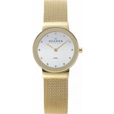 Skagen Ladies Gold Plated Mesh Watch 358SGGD
