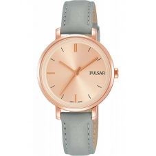 Pulsar Ladies Rose Gold Plated Grey Attitude Watch PH8366X1