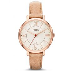 Fossil Jacqueline Sand Leather Strap Watch ES3487