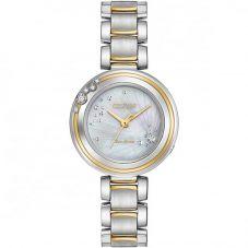 Citizen Ladies CITIZEN L Carina Diamond Two Tone Bracelet Watch EM0464-59D
