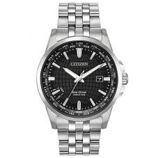 Citizen Mens World Time Perpetual Black Dial Bracelet Watch BX1000-57E