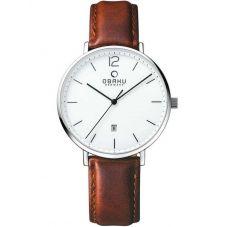 Obaku Mens Brown Strap Watch V181GDCWRN