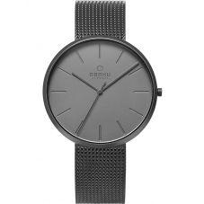Obaku Hassel Smokey Dark Grey Mesh Bracelet Watch V219GXUUMU
