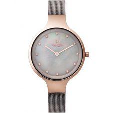 Obaku Ladies Mother of Pearl Mesh Bracelet Watch V173LXVJMJ