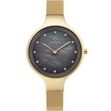Obaku Sky Gold Plated Bracelet Watch V173LXGJMG