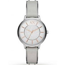Armani Exchange Ladies White Leather Strap Watch AX5311