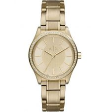 Armani Exchange Ladies Gold Plated Bracelet Watch AX5441