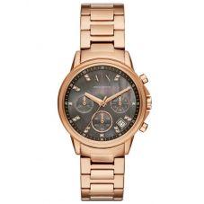 Armani Exchange Rose Tone Bracelet Watch AX4354