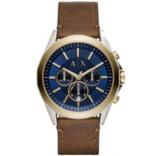 Armani Exchange Mens Two Tone Chronograph Strap Watch AX2612