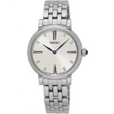 Seiko Ladies Discover More Silver Bracelet Watch SFQ817P1