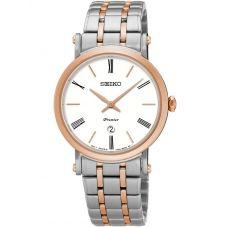 Seiko Ladies Premier Two Tone Bracelet Watch SXB430P1