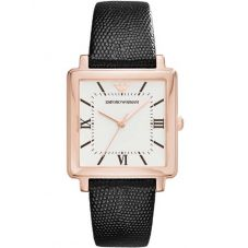 Emporio Armani Ladies Rose Gold-Plated Strap Watch AR11067