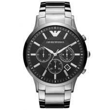 Emporio Armani Mens Chronograph Black Dial Bracelet Watch AR2460