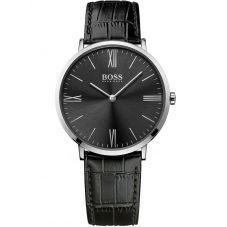 BOSS Mens Jackson Black Leather Strap Watch 1513369