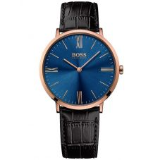BOSS Mens Jackson Brown Leather Strap Watch 1513458