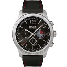 BOSS Mens The Professional Chronograph Black Rubber Strap Watch 1513525