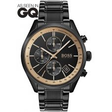 BOSS Mens Grand Prix GQ Special Edition Black Bracelet Watch 1513578
