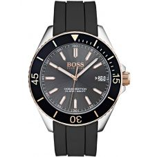 BOSS Mens Ocean Edition Black Rubber Strap Watch 1513558