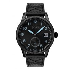 BOSS Mens Legacy Black Leather Strap Watch 1513672