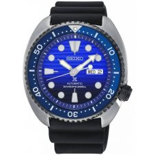 Seiko Mens Prospex Save The Ocean Special Edition Automatic Blue Rubber Strap Watch SRPC91K1