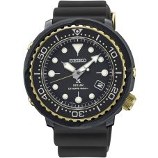 Seiko Mens Prospex Divers Solar Black Rubber Strap Watch SNE498P1