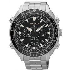 Seiko Mens Prospex Sky Solar Radio Controlled Black Bracelet Watch SSG001P1