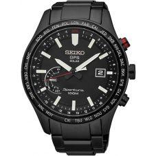 Seiko Mens Discover More Sportura Solar GPS Black Bracelet Watch SSF005J1