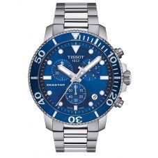 Tissot Mens T-Sport Seastar 1000 Chronograph Blue Dial Stainless Steel Bracelet Watch T120.417.11.041.00