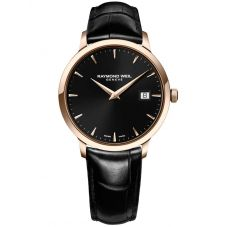 Raymond Weil Ladies Toccata Black Strap Watch 5388-PC5-20001