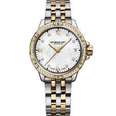 Raymond Weil Ladies Tango Two Colour Classic Diamond Bezel Bracelet Watch 5960-SPS00995